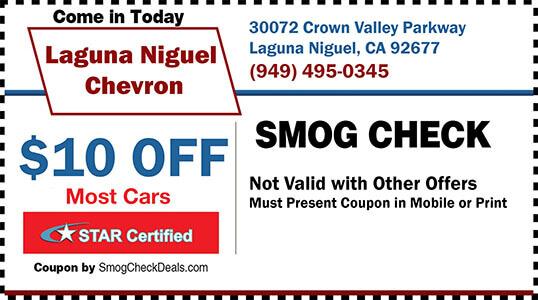 10 Off Smog Check Coupon Laguna Niguel Chevron